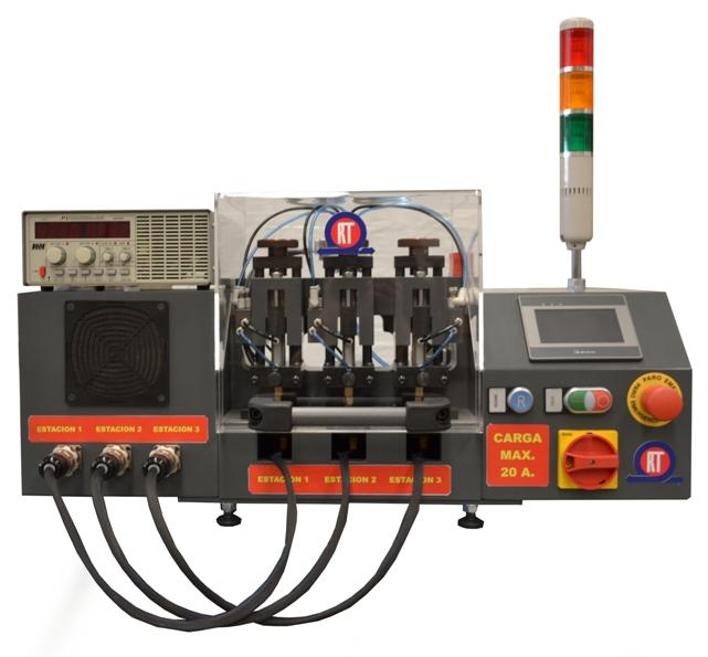 Maquina de ensayo de interruptores